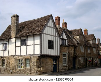 Nine hundred years old Lacock village in Wiltshire, England, UK.