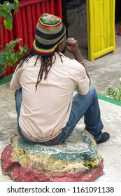 Nine Mile, Saint Ann Parish, Jamaica - January, 26, 2014: Reggae musician and peace activist Bob Marley was born here, and later buried here alongside his mother. Tours are available at this complex.