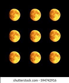 Nine moons. - Shutterstock ID 594742916