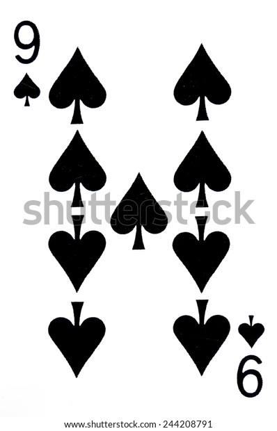 nine spade card  Nine Spade Card Game Stock Photo (Edit Now) 7