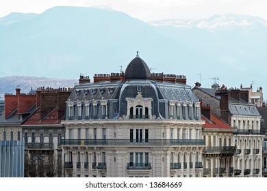nineteen century building in Grenoble, france