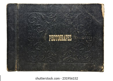 Nineteen-forties era leather photograph album cover. Leather shows lots of wear.