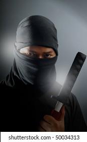 Ninja assassin portrait