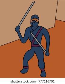 Ninja ready to fight