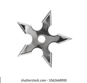 Ninja star shuriken isolated on white background