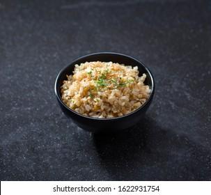 Ninniku fry rice with garlic a Japanese food menu