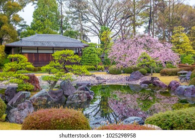 Ninomaru Garden in Nijo Castle in Kyoto, Japan
