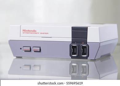 Nintendo NES Classic Edition with Reflection