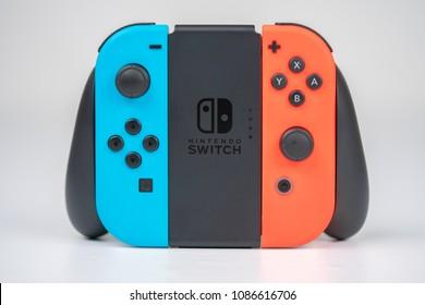Nintendo Switch Joycon isolated on white background