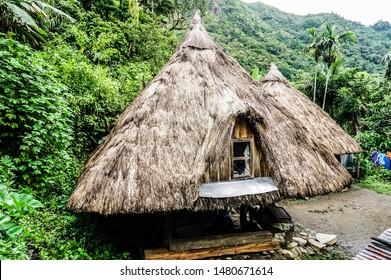 Nipa Hut of Batad Rice Terraces in Banaue, Ifugao, Philippines, a UNESCO World Heritage Site