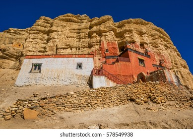 Niphu monastery at the outskirts of Choser, Mustang, Nepal