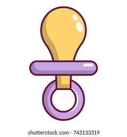Nipple baby icon. Cartoon illustration of nipple baby  icon for web design