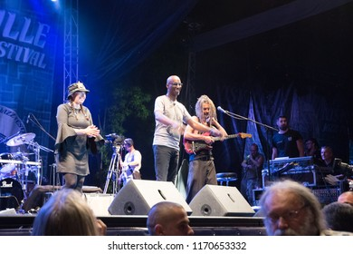 NIS - AUGUST 10: Omar Hakim and Rachel Z was playd and preform on  Nisville Jazz festival on August  10, 2018 in Nis, Serbia;