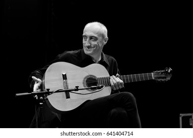 NIS - AUGUST 15:Miroslav Tadic famous guitarist  musician as he plays on Nisville jazz festival, on August 15, 2014 in Nis; Serbia