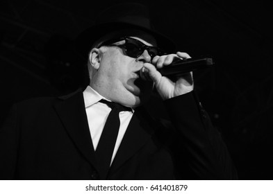 NIS - AUGUST 18:The Original Blues Brothers Band famous blues band as he plays on Nisville jazz festival, on August 18, 2014 in Nis; Serbia