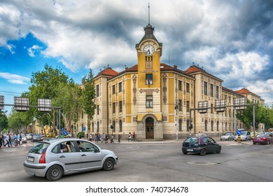 Nis, Serbia May 17, 2017: Center of town Nis from Serbia