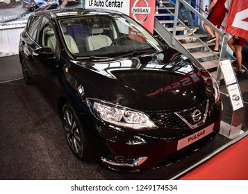 Nis, Serbia - October 06,2018: Nissan Pulsar 1.5 DCI Acenta NC at Auto moto fest in city of Nis