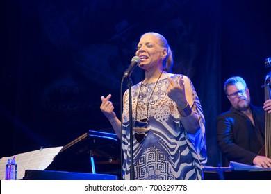 NIS, SERBIA-AUGUST 10, 2017: Patti Austin famous Jazz singer on NisVille JAZZ festival in Nis