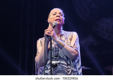 NIS, SERBIA-AUGUST 10, 2017: Patti Austin famous Jazz singer on NisVille JAZZ festival in Nis
