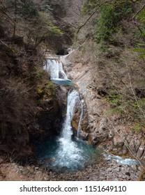 Nishizawa Keikoku water falls in Japan.