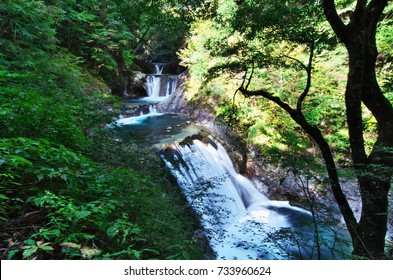"The Nishizawa Valley in Yamanashi Prefecture,Japan is a very mystic place with a powerful waterfall ""Fall with five steps""."