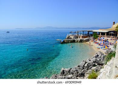 Nissaki beach. Geece, Corfu, Nissaki beach. 21.07.2017