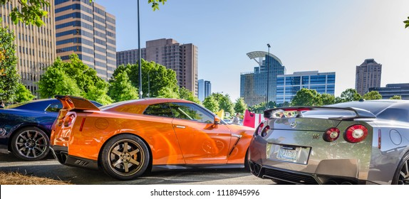 Nissan GTR Row Skyline Event Photography at Caffeine and Exotics Car Show Buckhead Atlanta, Gerorgia USA May 2018