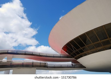 NITEROI - August 11 : Museum of Contemporary Art (MAC) on August 11, 2008 in Niteroi. Designed by Brazilian architect Oscar Niemeyer. Located in Niteroi, Rio, Brazil.
