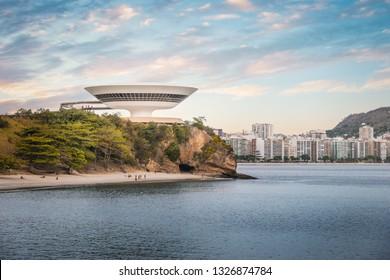 Niteroi, Brazil - Nov 3, 2017: Niteroi Skyline - Niteroi, Rio de Janeiro, Brazil