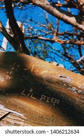 Niteroi, Rio de Janeiro, Brazil- May 19, 2019: Lil Peep