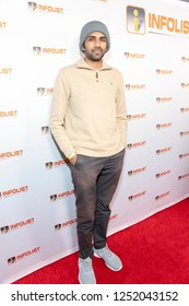Nitish Kannan attends INFOList.com Red Carpet Re-Launch Party & Holiday Extravaganza! at SKYBAR at the Mondrian Hotel, Los Angeles, California on December 5th, 2018