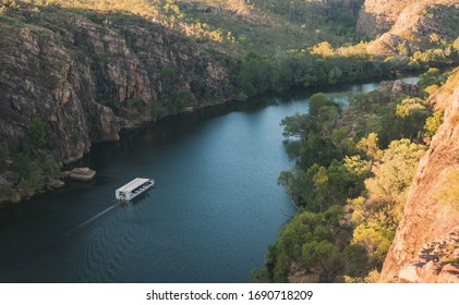 Nitmiluk (Katherine) Gorge at sunset, Nitmiluk National Park, Northern Territory, Australia