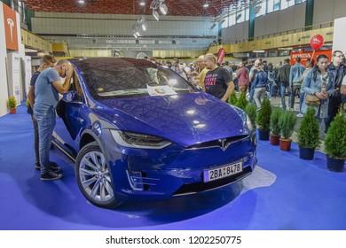 NITRA, SLOVAKIA-OCTOBER 13,2018:  International Agrokomplex Autoshow Nitra 2018. Car show. Editorial.