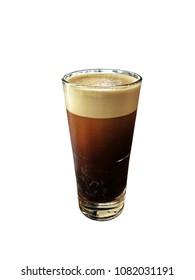 Nitro americano coffee on isolated on white background