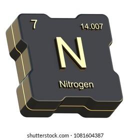 Sodium element symbol periodic table three stock illustration nitrogen element symbol from periodic table on futuristic black icon isolated on white background 3d render urtaz Choice Image