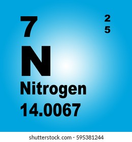 Nitrogen periodic table elements stock illustration 595381178 nitrogen periodic table of elements urtaz Image collections