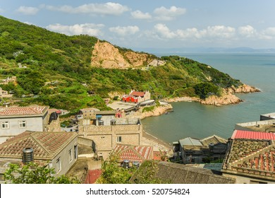 Niujiao Village and and a Temple by the Coastline in Matsu, Taiwan