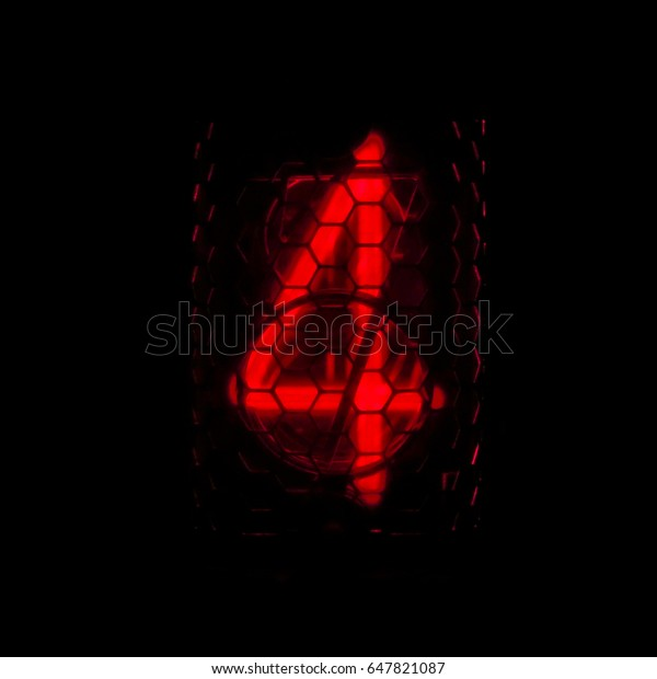 Nixie Tube Timer Stopwatch Red On Stock Photo (Edit Now