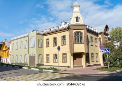 Nizhniy Novgorod. Beautiful old buildings on Slavyanskaya Street in the city center.
