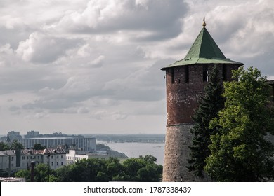 Nizhny Kremlin tower and a cityskape