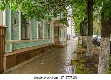 Nizhny Novgorod city, Nizhny Novgorodregion/Russia - july 09 2019: House of the widow of the titular adviser Avdotya Skvortsova