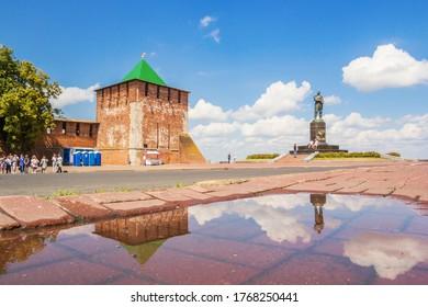 Nizhny Novgorod city, Nizhny Novgorod region/Russia - June 23 2019: St. George Tower of the Nizhny Novgorod Kremlin