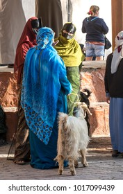 Nizwa, Oman, Febrary 2nd, 2018:  omani women at a goat market