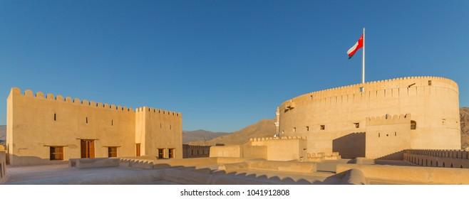 NIZWA, OMAN - NOVEMBER 27, 2017: View of the historic Fort of Nizwa, in Oman