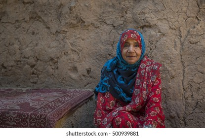 Nizwa, Oman, October 13th, 2016: omani lady in a traditional house