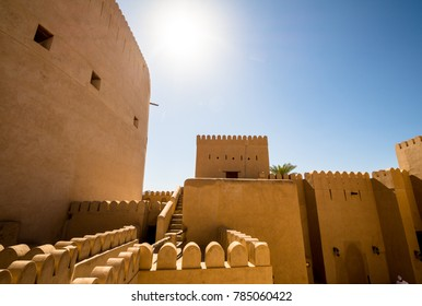 Nizwa, Oman panorama fort Arabian Peninsula. Nizwa was the capital of Oman proper and is located about 140 km from Muscat.