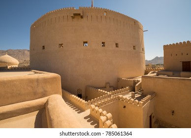 Nizwa, Oman panorama fort Arabian Peninsula. Nizwa was the capital of Oman proper and is located about 140 km from Muscat.on NOVEMBER 21, 2017 in Nizwa, Oman.