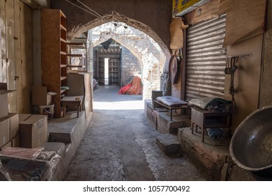 Nizwa / Sultanate of Oman - Feb 17 2018: Streets of Nizwa in Oman. Nizwa is one of the oldest cities in Oman.