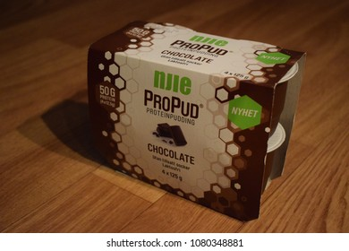 Njie ProPud ProteinPudding - chocolate - Kongsvinger, Norway (30th April 2018)