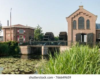 NLD, GELDERLAND - CIRCA JUN 2005 - Historic Pumping-engine  building at Nijkerk
